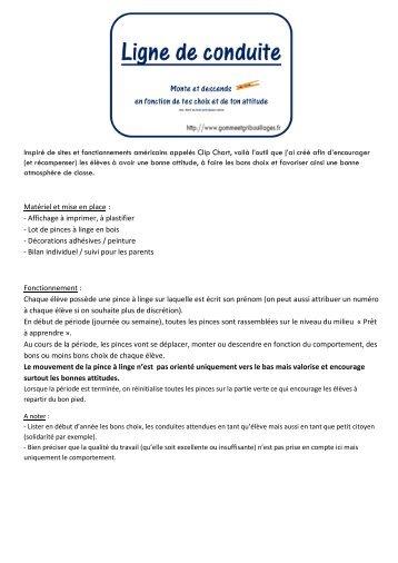 Ligne de Conduite - Gomme & Gribouillages