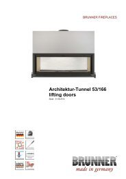 Architektur-Tunnel 53/166 lifting doors made in germany - Brunner