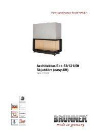 Architektur-Eck 53/121/50 Skjutdörr (easy-lift) - Brunner