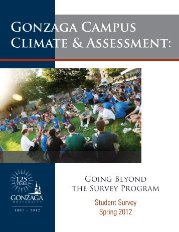View 2012 student survey results - Gonzaga University