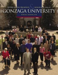 Report of the President Cover 04-05.indd - Gonzaga University