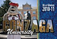 Other GU Fast Facts - Gonzaga University