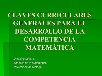 ppt desarrollo de la competencia matemática