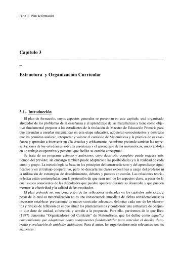 Capítulo 3 _ Estructura y Organización Curricular