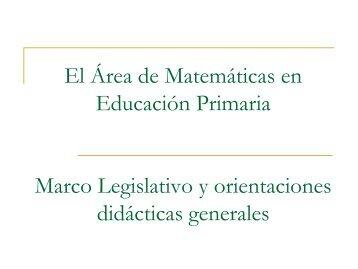legislación y orientaciones didácticas generales