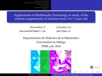Applications of Multimedia Technology to study of the ordinal ...