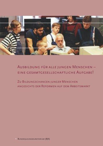 AUSBILDUNG FüR ALLE JUNGEN MENSCHEN - Das ...