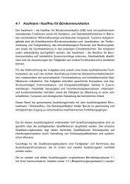 4.1 Kaufmann / Kauffrau für Bürokommunikation - Good Practice ...