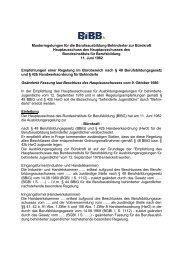 Der Hauptausschuss des Bundesinstituts für Berufsbildung (BIBG)