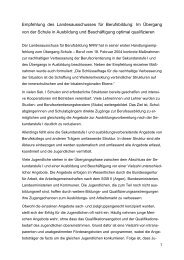 Die Empfehlung des Landesausschusses für Berufsbildung NRW