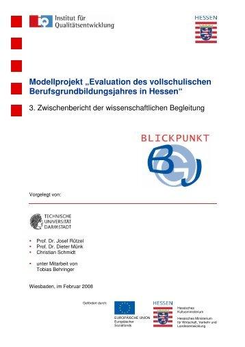 Evaluation des vollschulischen Berufsgrundbildungsjahres in Hessen