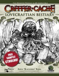 LOVECRAFTIAN BESTIARY CTHULHU! - Goodman Games
