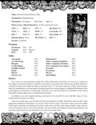 player handouts and pregenerated characters - Goodman Games