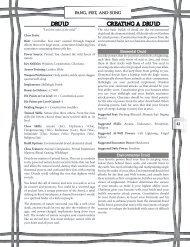 Druid Creating a Druid - Goodman Games