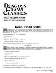 DCC RPG Quick Start Guide - Goodman Games
