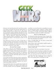 Welcome to the Geek Wars Demo Kit! Geek ... - Goodman Games