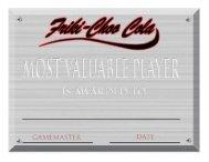 official Xcrawl MVP certificates - Goodman Games