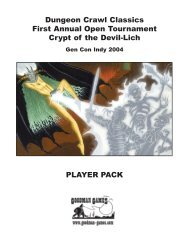 Dungeon Crawl Classics First Annual Open ... - Goodman Games