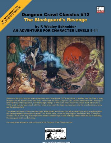 Classics dungeon pdf crawl