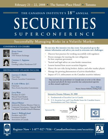 securities superconference - Goodmans