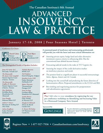 advanced insolvency law & practice - Goodmans