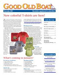 New colorful T-shirts are here! - Good Old Boat Magazine