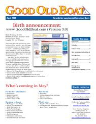 Birth announcement: - Good Old Boat Magazine