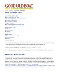 Good Old Boat - April 2011 Newsletter - Good Old Boat Magazine
