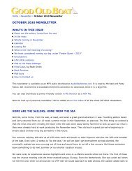 Good Old Boat - October 2010 Newsletter - Good Old Boat Magazine