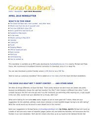 Good Old Boat - April 2010 Newsletter - Good Old Boat Magazine