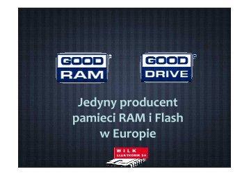 Jedyny producent pamieci RAM i Flash w Europie - Wilk Elektronik