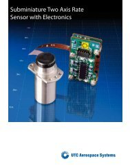 Subminiature Two Axis Rate Sensor with Electronics