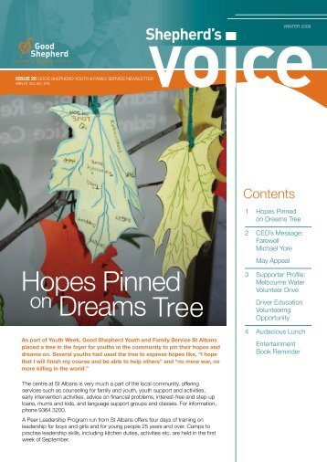 Shepherd's Voice newsletter Issue 26 Winter 2009 - Good Shepherd ...