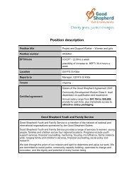 Professional accountabilities - Good Shepherd Youth & Family Service