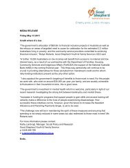 """MEDIA RELEASE Friday May 13 2011 Credit where it's due """"The ..."""