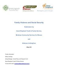 Family Violence and Social Security - Good Shepherd Youth ...