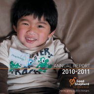 2010-2011 - Good Shepherd Youth & Family Service