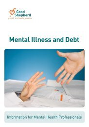 Mental Illness and Debt - Good Shepherd Youth & Family Service