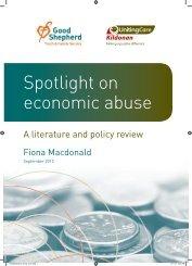 Spotlight on economic abuse - Good Shepherd Youth & Family ...