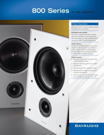 800 Series In wall speakers - Goodwin's High End