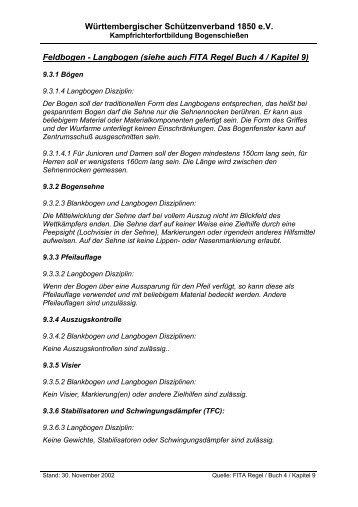 Reglement-Zusatz Langbogen - Bogensport Bietigheim ev