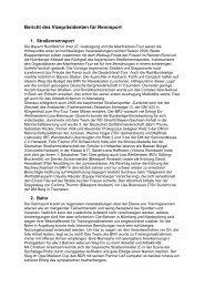 Bericht des Vizepräsidenten für Rennsport