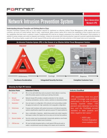 intrusion prevention system Intrusion detection systems (ids) or the newer technology on the security block, intrusion prevention systems (ips) few have reviewed the value of implementing both ids and ips technologies © sans institute 2004, author retains full rights.