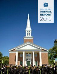 Read Gordon's Annual Report - Gordon College