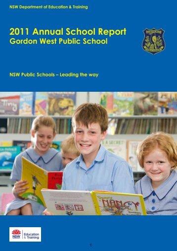 2011 Annual School Report - Gordon West Public School