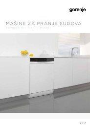 Pdf katalog: Gorenje Mašine za pranje sudova 2012