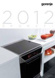 Pdf katalog: Gorenje Šporeti 2012