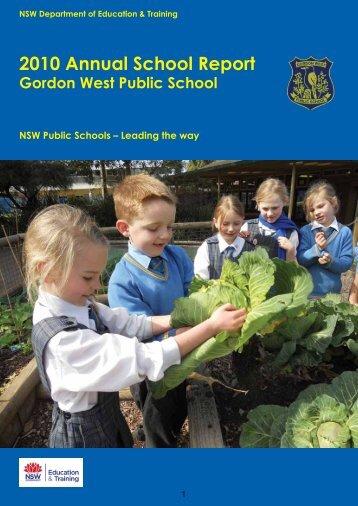 2010 Annual School Report - Gordon West Public School
