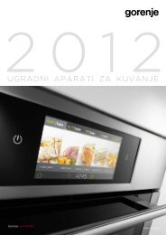 Pdf katalog: Gorenje Ugradni aparati za kuvanje 2012