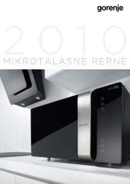 Pdf katalog: Gorenje Mikrotalasne rerne 2010